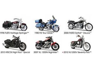 Harley Davidson Motorcycle 6pc Set Series 31 1/18 Maisto 31360-31
