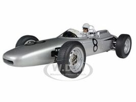 Porsche 804 Formula 1 1962 Nurburgring #8 Jo Bonnier Figurine Fitted Inside The Car 1/18 Diecast Model Car Autoart 86274