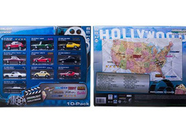 Hollywood 10-Car Collector Case Set Series 1 1/64 Diecast Model Car Greenlight 71710