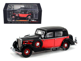1935 Maybach SW35 Spohn Black/Red Hardtop 1/43 Diecast Car Model Signature Models 43702