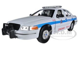 1999 Ford Crown Victoria Chicago Police Car 1/24 Diecast Car Model Welly 22082