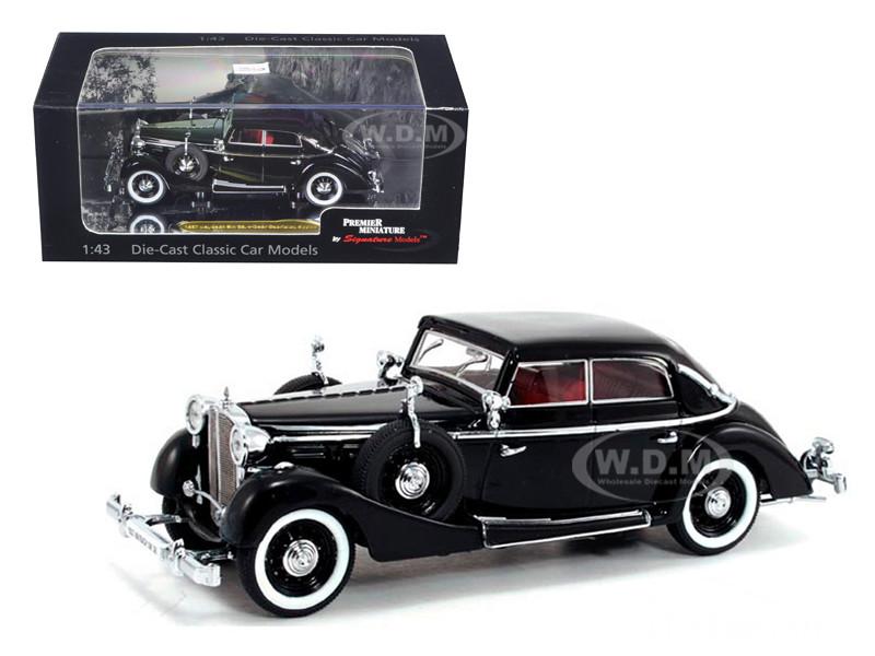 1937 Maybach SW38 Spohn 4 Doors Black Convertible 1/43 Diecast Car Model Signature Models 43703
