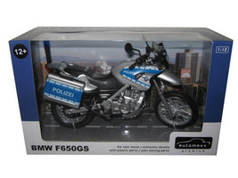 BMW F650GS Police Polizei Bike Motorcycle Model 1/12 Automaxx 600404