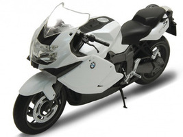 BMW K1300S White 1/10 Diecast Motorcycle Model Welly 62805