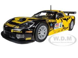 Chevrolet Corvette C6R #4 Black Yellow 1/24 Diecast Model Car Bburago 28003