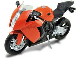 KTM 1190 RC8 Orange 1/10 Diecast Motorcycle Model Welly 62806