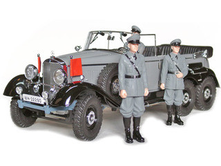 1938 Mercedes G4 Grey With 3 Figurines 1/18 Diecast Car Model Signature Models 38202