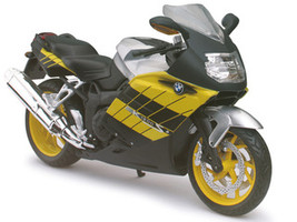 BMW K1200S Yellow Motorcycle Model 1/12 Automaxx 600302