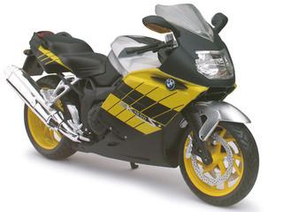 BMW K1200S Yellow Motorcycle Model 1/12 Automaxx 600302