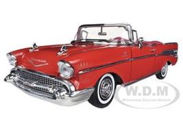 1957 Chevrolet Bel Air Convertible Red 1/18 Diecast Car Model Motormax 73175