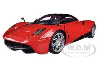 pagani huayra red 1/18 diecast car model motormax 79160