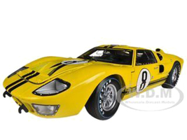 1966 Ford GT-40 MK 2 Yellow #8 1/18 Diecast Car Model Shelby Collectibles 417