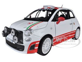 Fiat Abarth 500 R3T White 1/24 Diecast Car Model Motormax 73379