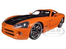 2008 Dodge Viper SRT10 Orange 1/24 Diecast Car Model Jada 96805