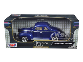 1940 Ford Deluxe Coupe Blue 1/18 Diecast Model Car Motormax 73108