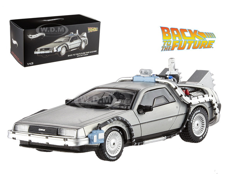 Delorean DMC-12 Back To The Future Time Machine With Mr. Fusion 1/43 Diecast Model Car Hotwheels BCK08