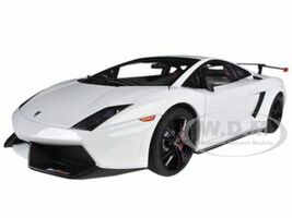 Lamborghini Gallardo LP570 Supertrofeo Stradale White / Bianco Monocerus 1/18 Diecast Car Model Autoart 74693