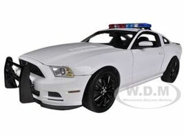 2013 Ford Mustang Boss 302 White Unmarked Police Car 1/18 Diecast Car Model Shelby Collectibles 463