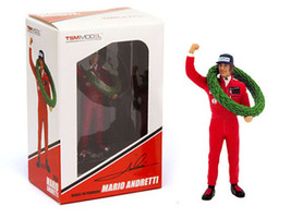 Mario Andretti Type II Figurine 1977 French GP Winner for 1/18 Scale Models True Scale Miniatures 13AC01