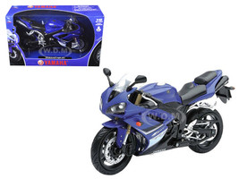2008 Yamaha YZF-R1 Blue Motorcycle Model 1/12 by New Ray
