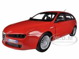Alfa Romeo 159 SW Red 1/24 Diecast Car Model Motormax 73372