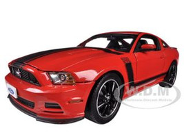 2013 Ford Mustang Boss 302 Red Black Stripes 1/18 Diecast Model Car Shelby Collectibles SC454