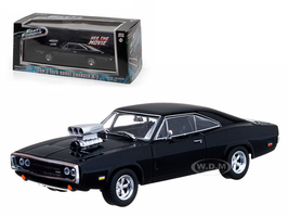 """Dom's 1970 Dodge Charger Black """"The Fast and The Furious"""" Movie (2001) 1/43 Diecast Car Model Greenlight 86201"""