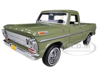 1969 Ford F-100 Pickup Truck Green 1/24 Diecast Car Model Motormax 79315