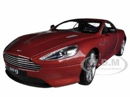 Aston Martin DB9 Coupe Burgundy 1/18 Diecast Car Model Welly 18045