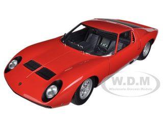 Lamborghini Muira SV Red 1/18 Diecast Car Model Autoart 74543