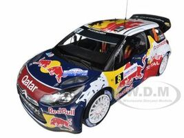 "Citroen DS3 #8 WRC Rally France 2012 Neuville / Gilsoul ""Red Bull"" 1/18 Diecast Car Model Norev 181553"