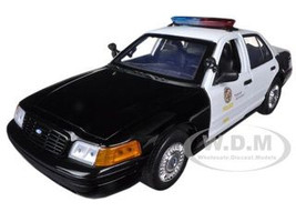2001 Ford Crown Victoria Los Angeles Police Department LAPD Car 1/18 Diecast Car Model Motormax 73539