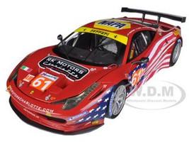 Elite Ferrari 458 Italia GT2 #61 LM 2012 AF Corse Sebring 1/18 Diecast Car Model Hotwheels BCT78