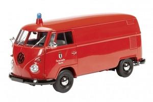"""Volkswagen T1 Kasten """"Feuerwehr Berlin"""" Fire Engine Limited to 1000pc 1/18 Diecast Model Car Schuco 450027400"""