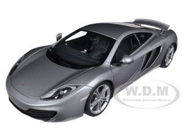 Mclaren MP4-12C Silver 1/18 Diecast Car Model Autoart 76007