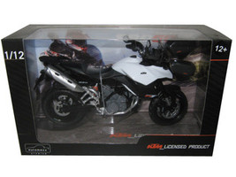 KTM 990 SM-T White/Black Motorcycle Model 1/12 Automaxx 601703