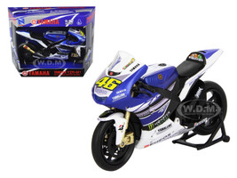 "2013 Yamaha YZR-M1 Valentino Rossi ""Monster"" Moto GP #46 Motorcycle Model 1/12 New Ray 57583"