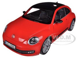 2012 Volkswagen New Beetle Red 1/18 Diecast Car Model Welly 18042