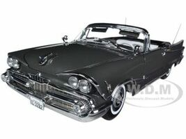 1959 Dodge Custom Royal Lancer Open Convertible Pewter Poly 1/18 Diecast Car Model Sunstar 5472