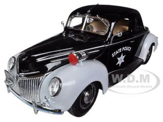 1939 Ford Deluxe Police 1/18 Diecast Model Car Maisto 31366