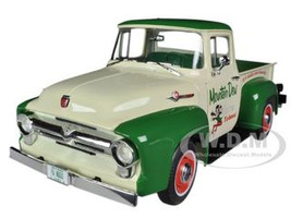 "1956 Ford F-100 Pickup Truck ""Mountain Dew"" Limited to 1250pc 1/18 Diecast Model Car Autoworld AW211"