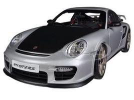 Porsche 911 (997) GT2 RS Silver 1/18 Diecast Car Model Autoart 77961