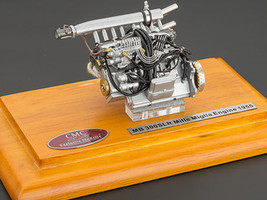 1955 Mercedes 300 SLR Mille Miglia Engine with Display Showcase 1/18 Diecast Model CMC 120