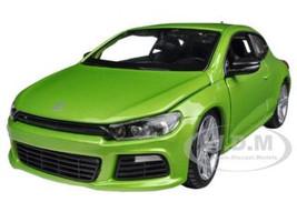 Volkswagen Scirocco R Green 1/24 Diecast Car Model Bburago 21060