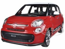 2013 Fiat 500L Red 1/24 Diecast Car Model Welly 24038