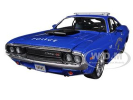 "1970 Dodge Challenger R/T Coupe Police Blue ""All Stars"" 1/24 Diecast Model Car Maisto Maisto 31129"