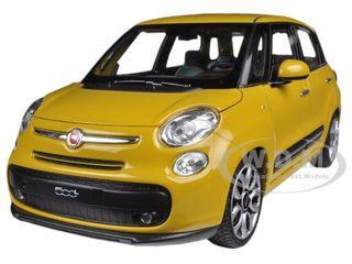 2013 Fiat 500L Yellow 1/24 Diecast Car Model Welly 24038