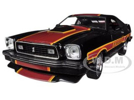 """1978 Ford Mustang Cobra II Black """"Free Wheelin"""" 1/18 Diecast Car Model Greenlight GL12891"""
