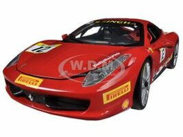 Ferrari 458 Challenge Red #12 1/18 Diecast Car Model Hotwheels BCT89