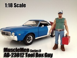 """Musclemen """"Tool Box Guy"""" Figure For 1:18 Scale Models American Diorama 23812"""